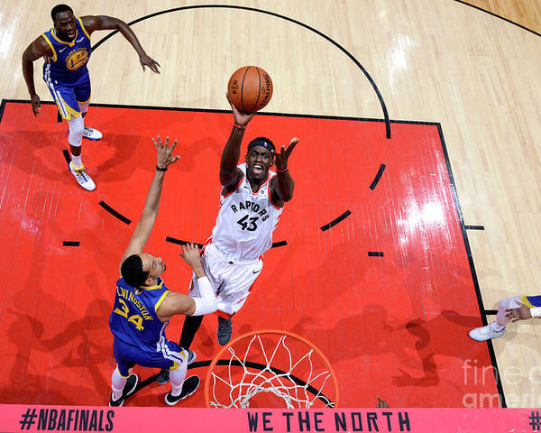 Playoffs Poster featuring the photograph Pascal Siakam by Jesse D. Garrabrant