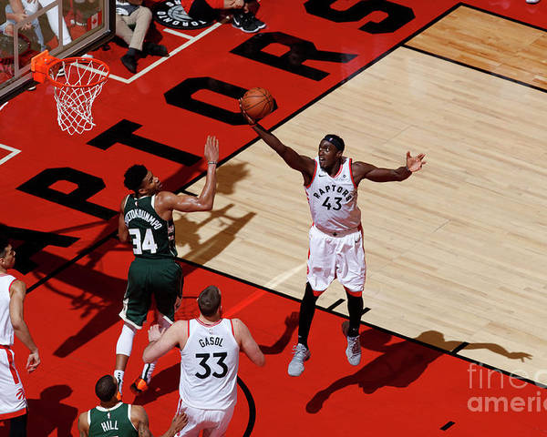 Playoffs Poster featuring the photograph Pascal Siakam by Mark Blinch