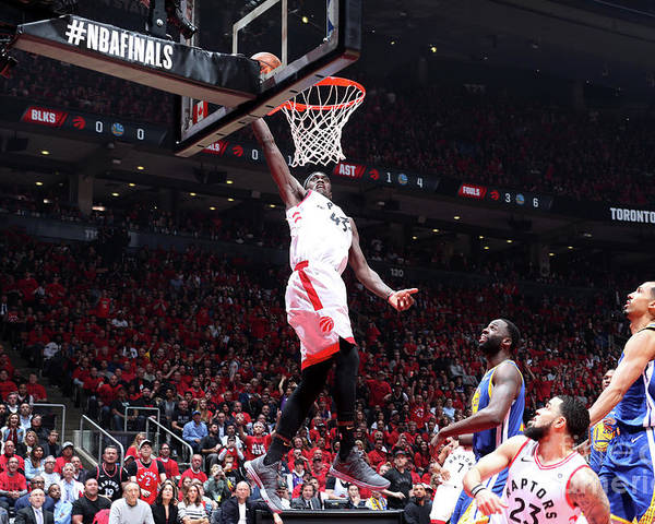 Playoffs Poster featuring the photograph Pascal Siakam by Nathaniel S. Butler
