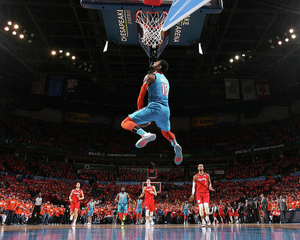 Playoffs Poster featuring the photograph Paul George by Joe Murphy