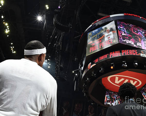 Nba Pro Basketball Poster featuring the photograph Paul Pierce by Andrew D. Bernstein