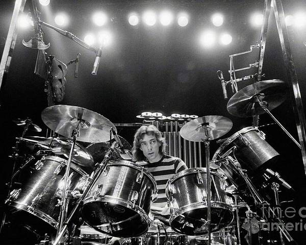 Rush Poster featuring the digital art Rush Neil Peart Poster by Trindira A