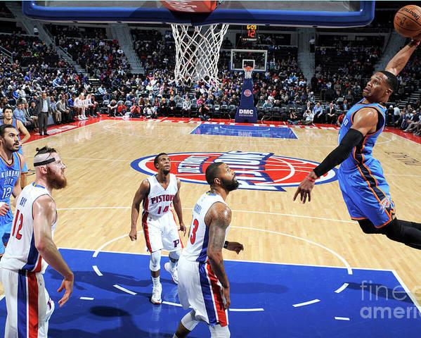 Nba Pro Basketball Poster featuring the photograph Russell Westbrook by Chris Schwegler