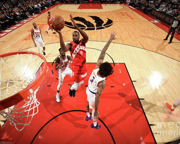 Nba Pro Basketball Poster featuring the photograph Serge Ibaka by Ron Turenne