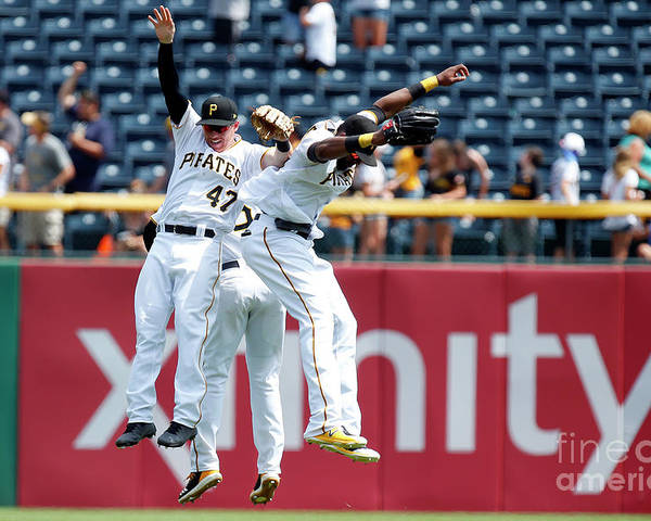 People Poster featuring the photograph Starling Marte and Gregory Polanco by Justin K. Aller