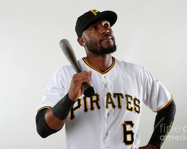 Media Day Poster featuring the photograph Starling Marte by Brian Blanco