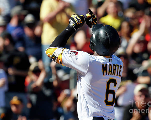 People Poster featuring the photograph Starling Marte by Justin K. Aller