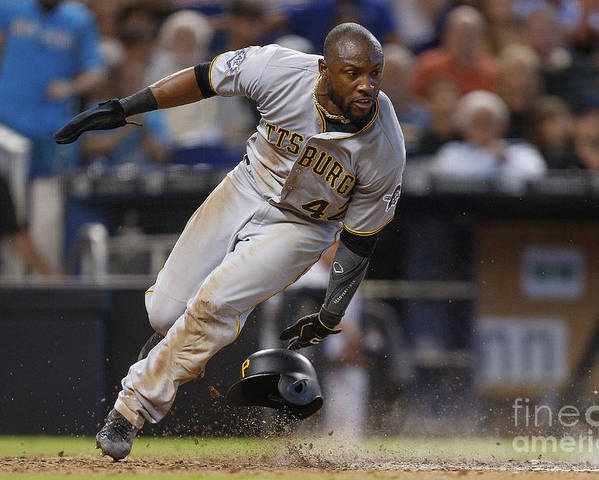 People Poster featuring the photograph Starling Marte by Michael Reaves