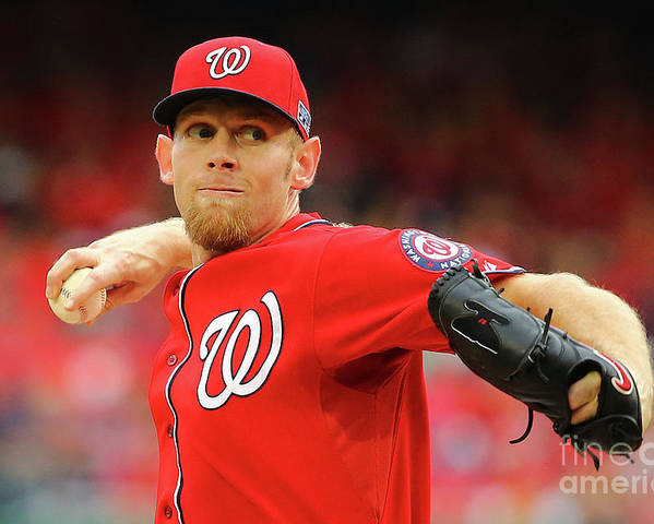 Stephen Strasburg Poster featuring the photograph Stephen Strasburg by Al Bello