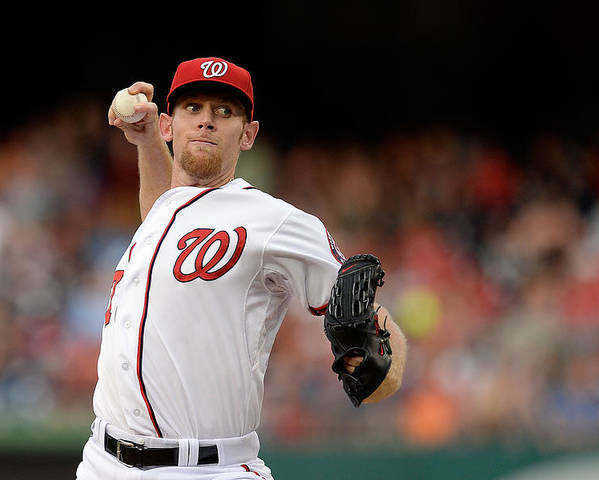 American League Baseball Poster featuring the photograph Stephen Strasburg by Patrick Mcdermott