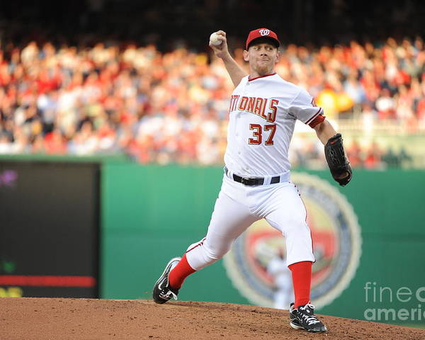 Stephen Strasburg Poster featuring the photograph Stephen Strasburg by Rich Pilling