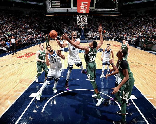 Nba Pro Basketball Poster featuring the photograph Taj Gibson by David Sherman