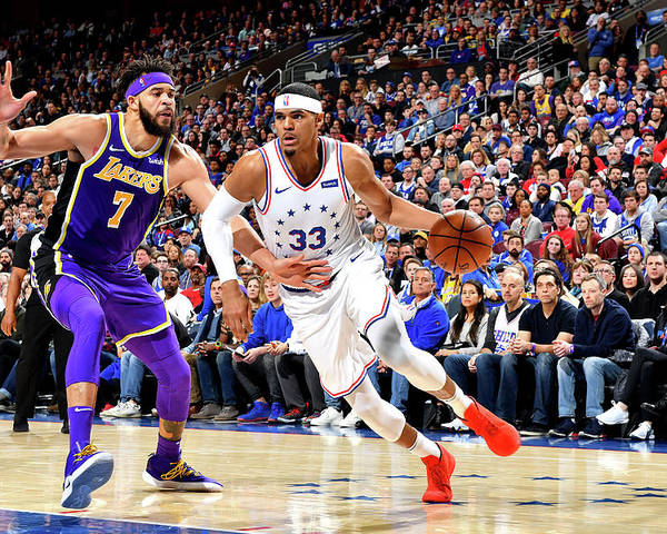 Nba Pro Basketball Poster featuring the photograph Tobias Harris by Jesse D. Garrabrant