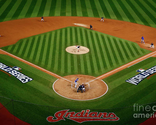 Game Two Poster featuring the photograph Trevor Bauer by Jamie Squire