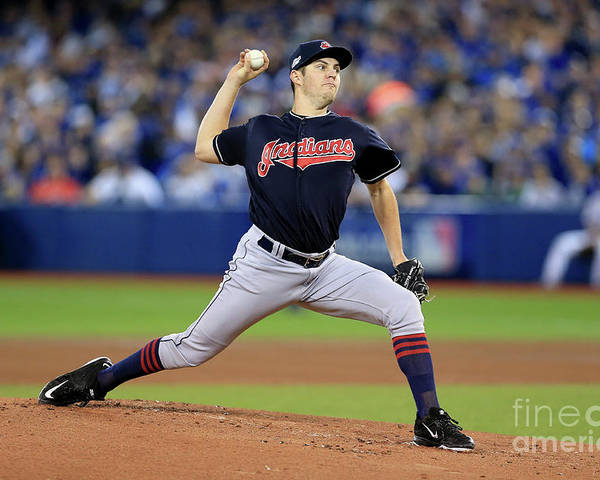 People Poster featuring the photograph Trevor Bauer by Vaughn Ridley