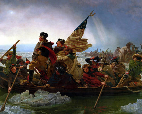 George Washington Poster featuring the painting Washington Crossing the Delaware by Emanuel Leutze