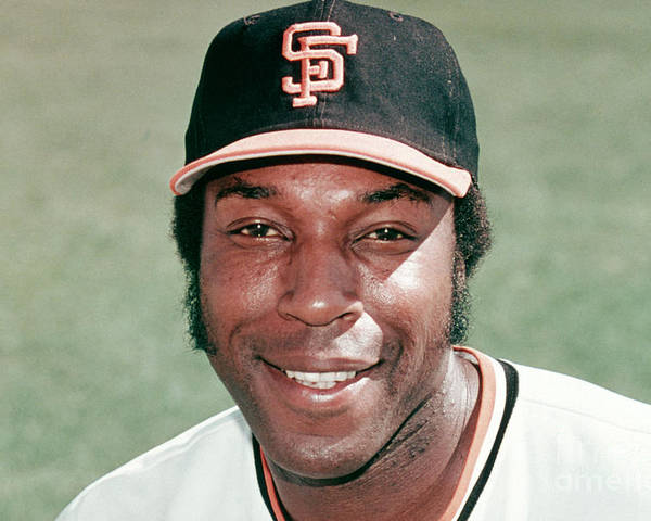People Poster featuring the photograph Willie Mccovey by Mlb Photos