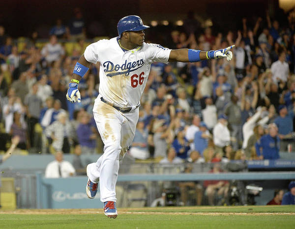 California Poster featuring the photograph Yasiel Puig by Harry How