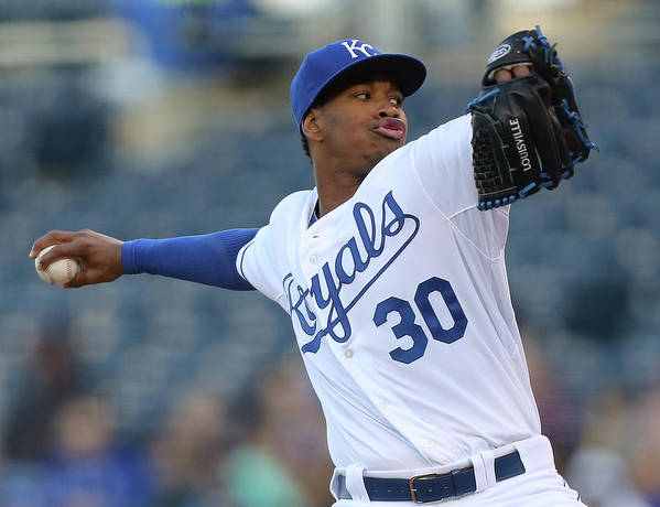 People Poster featuring the photograph Yordano Ventura by Ed Zurga