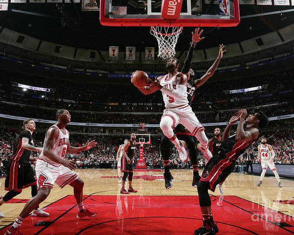 Nba Pro Basketball Poster featuring the photograph Dwyane Wade by Nathaniel S. Butler