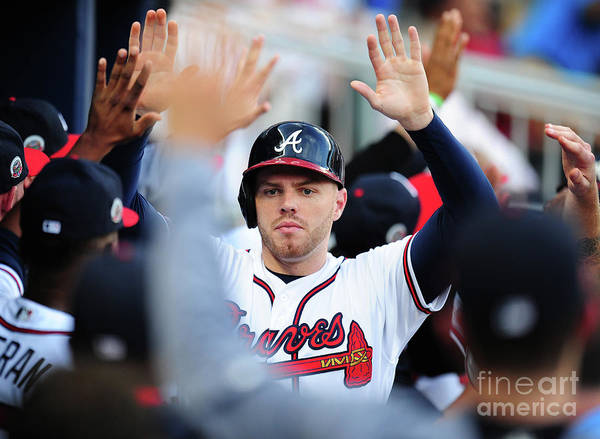 Atlanta Poster featuring the photograph Freddie Freeman by Scott Cunningham