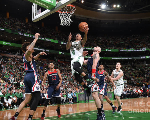 Playoffs Poster featuring the photograph Isaiah Thomas by Brian Babineau