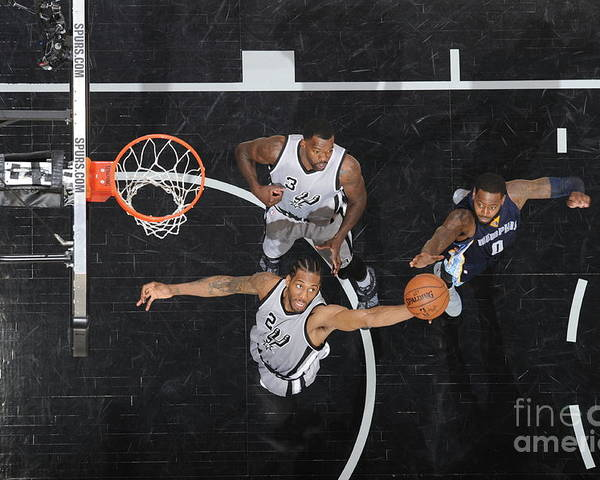 Playoffs Poster featuring the photograph Kawhi Leonard by Mark Sobhani