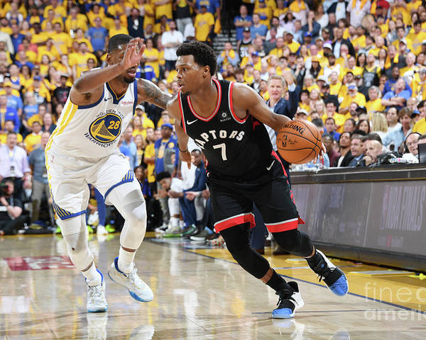 Playoffs Poster featuring the photograph Kyle Lowry by Andrew D. Bernstein