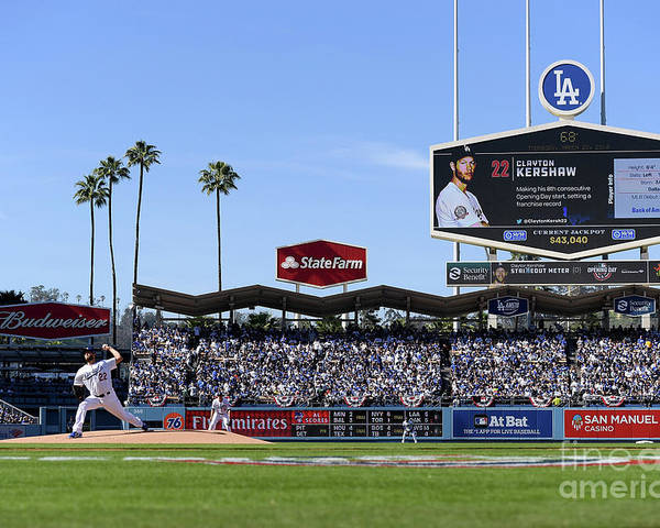 People Poster featuring the photograph Clayton Kershaw by Harry How