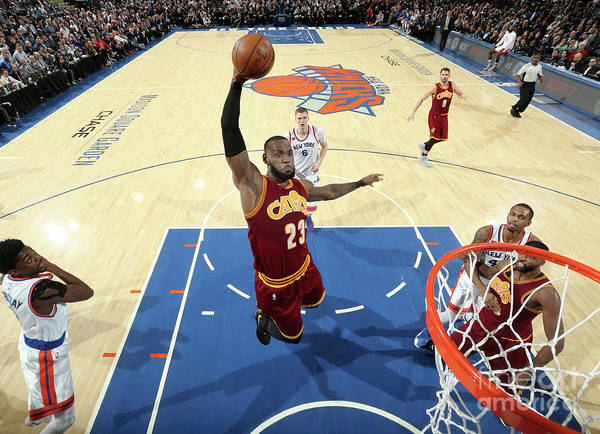 Nba Pro Basketball Poster featuring the photograph Lebron James by Nathaniel S. Butler