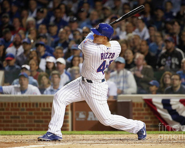 People Poster featuring the photograph Anthony Rizzo by Jonathan Daniel