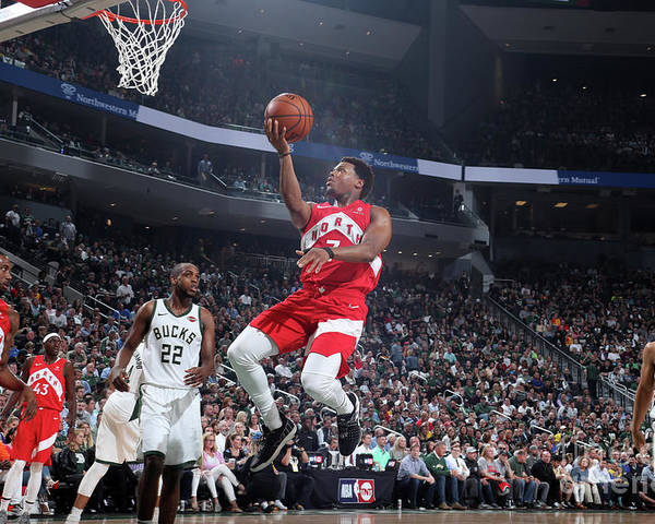 Playoffs Poster featuring the photograph Kyle Lowry by Nathaniel S. Butler