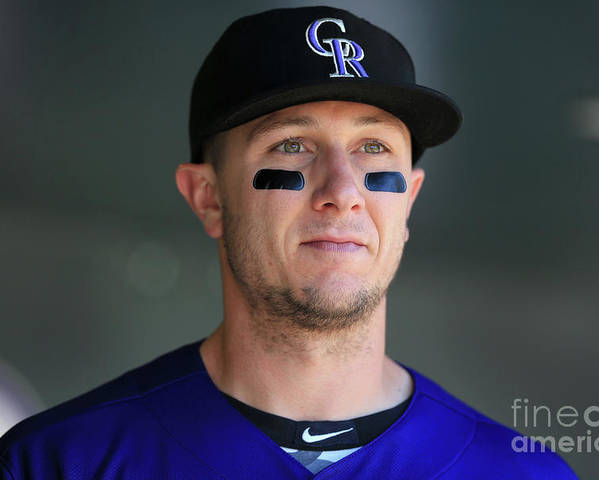 People Poster featuring the photograph Troy Tulowitzki by Doug Pensinger