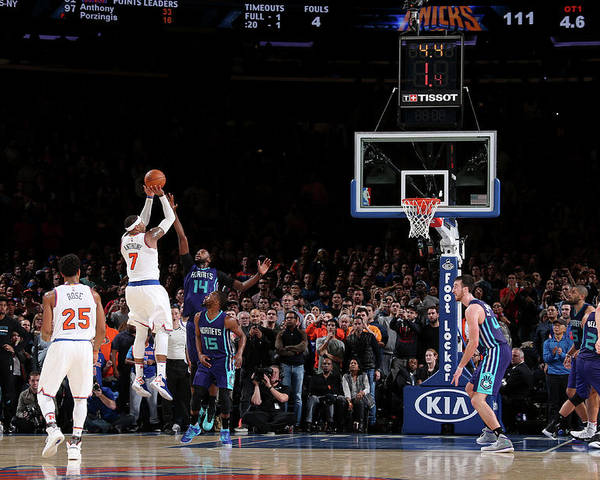 Nba Pro Basketball Poster featuring the photograph Carmelo Anthony by Nathaniel S. Butler