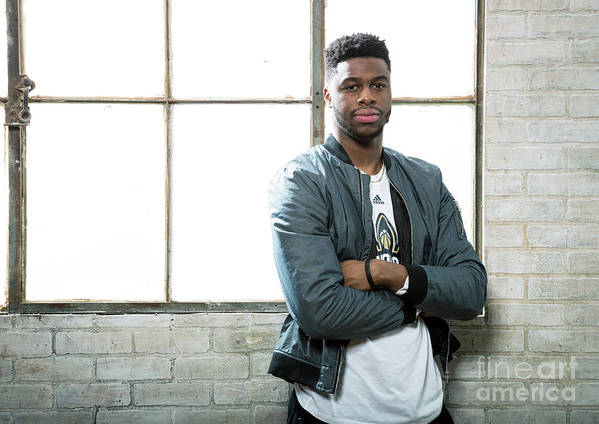 Nba Pro Basketball Poster featuring the photograph Emmanuel Mudiay by Nathaniel S. Butler