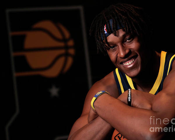Media Day Poster featuring the photograph Myles Turner by Ron Hoskins