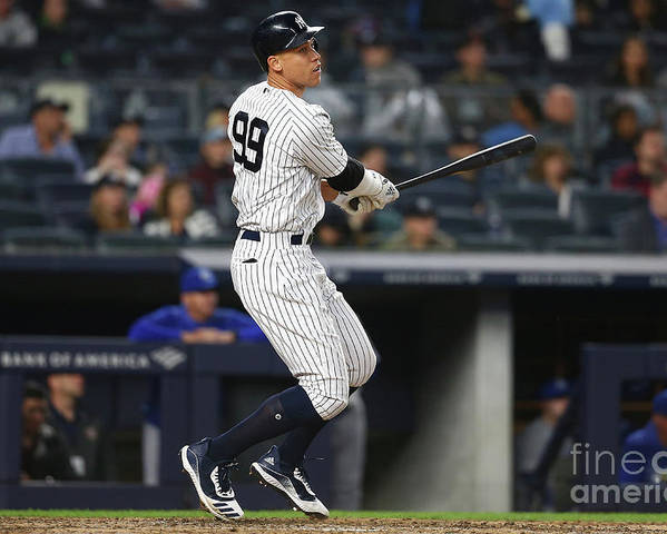 People Poster featuring the photograph Aaron Judge by Mike Stobe