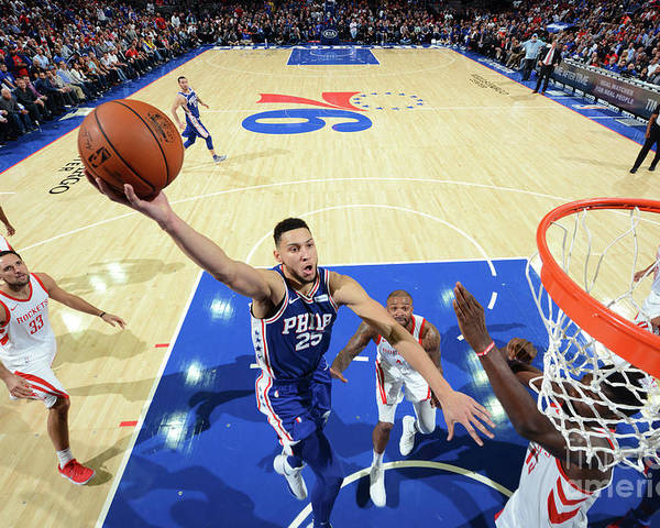 Nba Pro Basketball Poster featuring the photograph Ben Simmons by Jesse D. Garrabrant