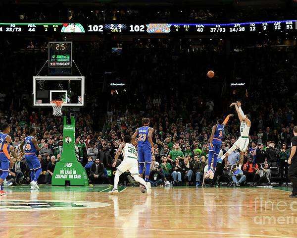 Nba Pro Basketball Poster featuring the photograph Jayson Tatum by Brian Babineau