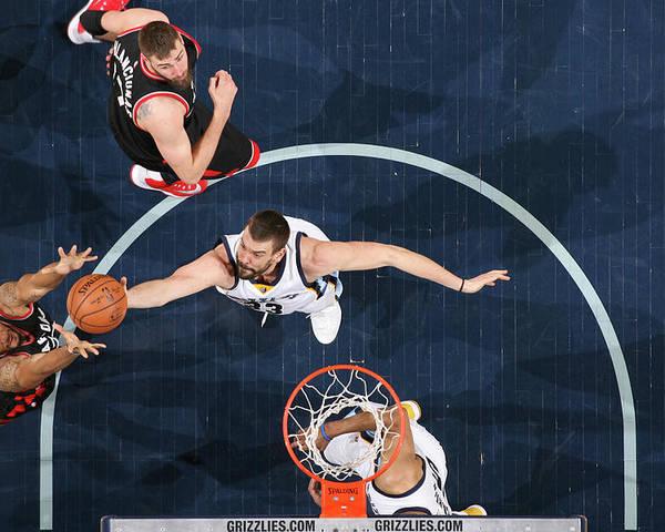 Nba Pro Basketball Poster featuring the photograph Marc Gasol by Joe Murphy