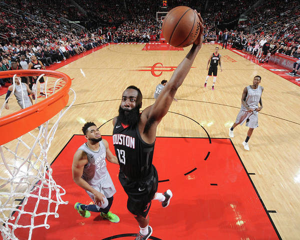 Playoffs Poster featuring the photograph James Harden by Bill Baptist