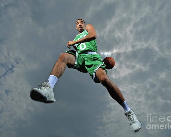 Nba Pro Basketball Poster featuring the photograph Jayson Tatum by Jesse D. Garrabrant
