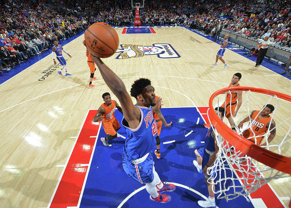 Nba Pro Basketball Poster featuring the photograph Joel Embiid by Jesse D. Garrabrant