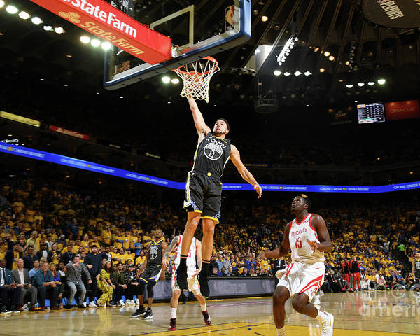 Playoffs Poster featuring the photograph Klay Thompson by Noah Graham