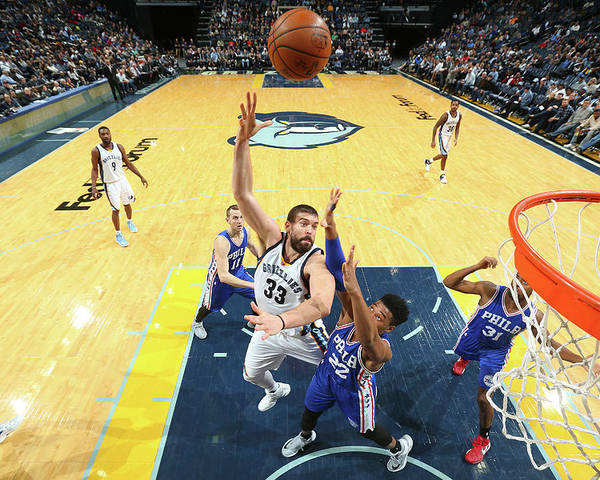 Nba Pro Basketball Poster featuring the photograph Marc Gasol by Joe Murphy