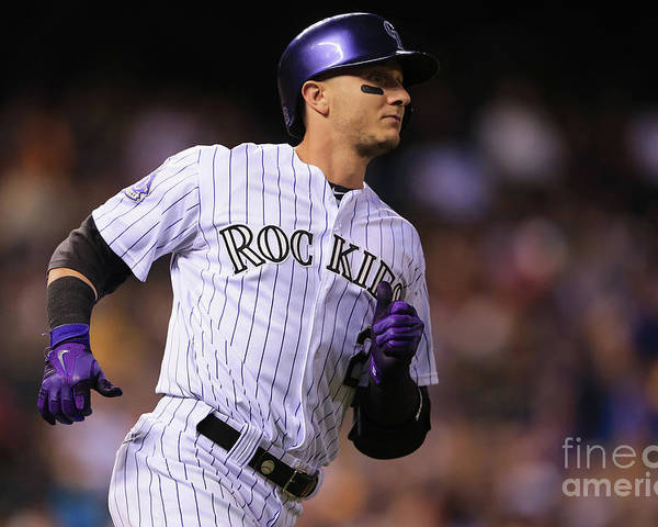 National League Baseball Poster featuring the photograph Troy Tulowitzki by Doug Pensinger