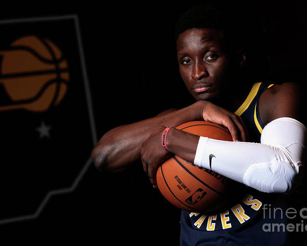 Media Day Poster featuring the photograph Victor Oladipo by Ron Hoskins