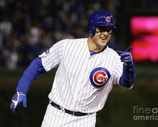 Three Quarter Length Poster featuring the photograph Anthony Rizzo by Jonathan Daniel