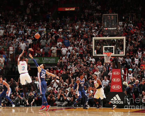 Nba Pro Basketball Poster featuring the photograph Dwyane Wade by Issac Baldizon