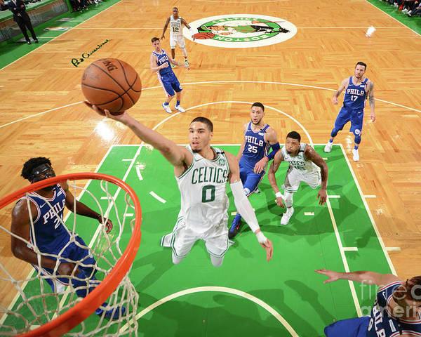 Playoffs Poster featuring the photograph Jayson Tatum by Jesse D. Garrabrant